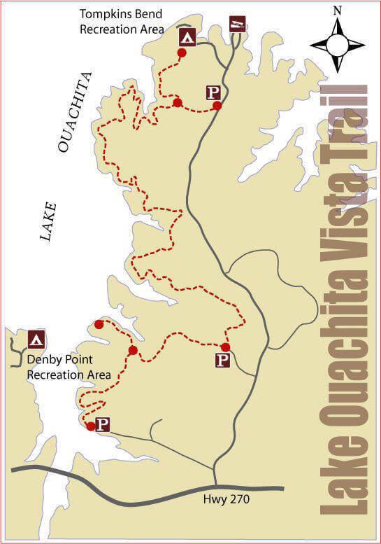 Lake Ouachita Vita Trail Map